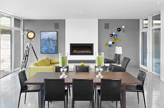 Hurricane Candle Holders Dining Room Modern with Architecture Black Charcoal City Clean Compact Crestwood Crisp Daylight