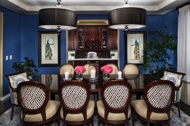 Hurricane Candle Holders Dining Room Traditional with Beige Dining Chair Black Drum Pendant Blue Wall Candle