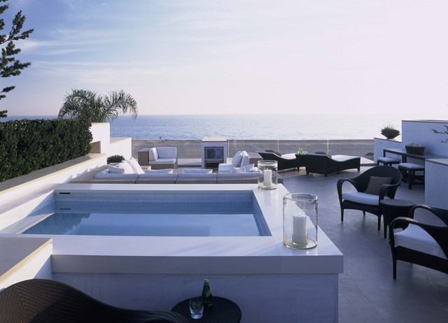Hurricane Candle Holders Pool Contemporary with Glass Railing Hot Tub Outdoor Chairs Outdoor Chaise Lounge