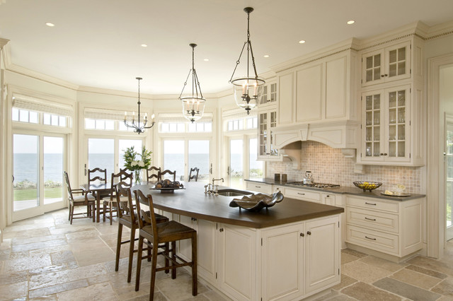 Hurricane Lanterns Kitchen Traditional with Bay Window Brown Counters Dining Table Eat in Kitchen