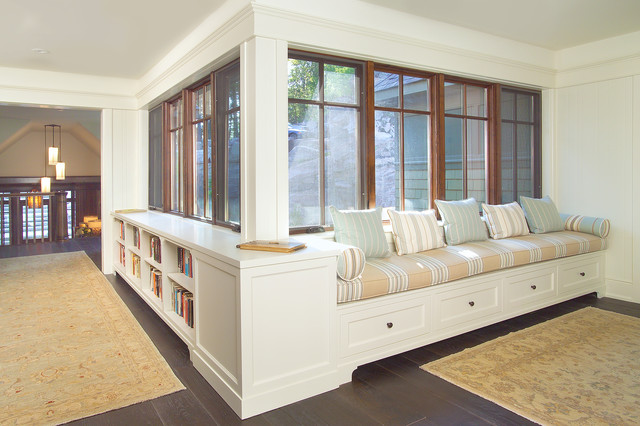Hydronic Baseboard Heater Hall Traditional with Area Rug Bookcase Built in Bench Built in Bookcase Crown Molding