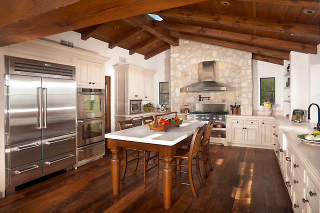 Ice Cream Cone Holder Kitchen Traditional with Breakfast Table Exposed Beams Gable Skylight Stone Vaulted Ceiling