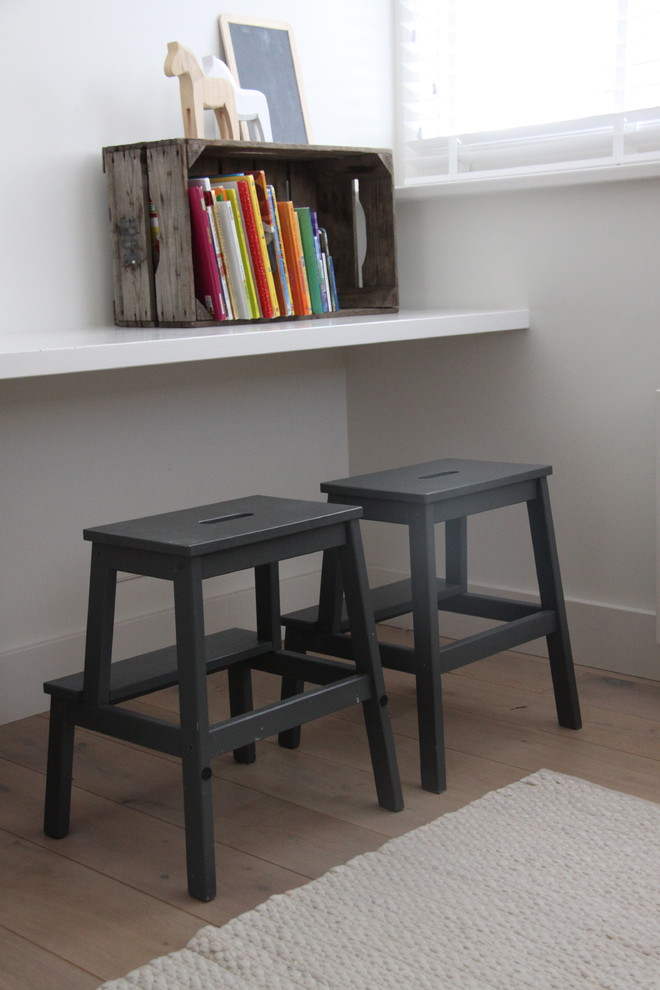 ikea counter stools Kids Contemporary with blinds books Boy's Room chalkboard flat area