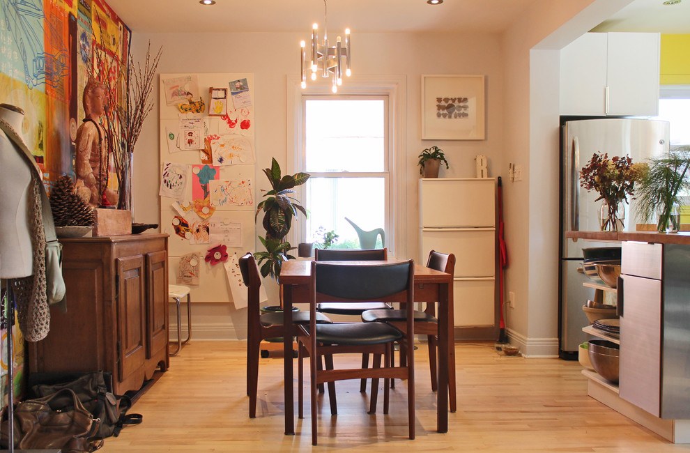 ikea magnetic board Dining Room Eclectic with Buddah buffet dress form kitchen light wood