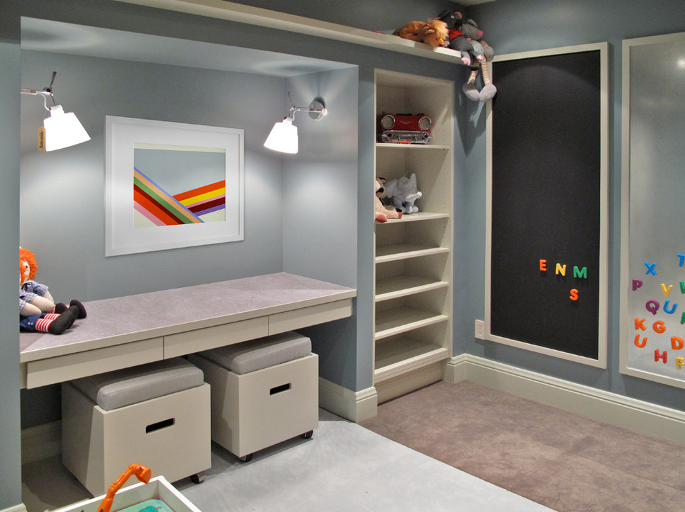 Ikea Magnetic Board  Kids Contemporary With Alphabet Magnets Built In Desk Built In Shelves Carpeting