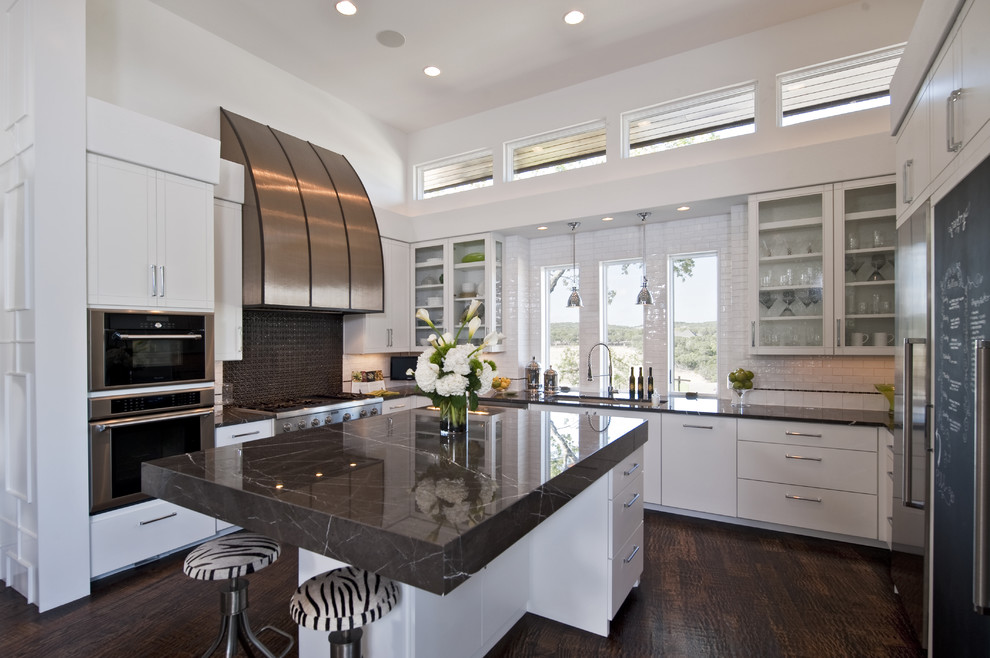 Ikea Quartz Countertops Kitchen Contemporary with Black and White Breakfast Bar Ceiling Lighting