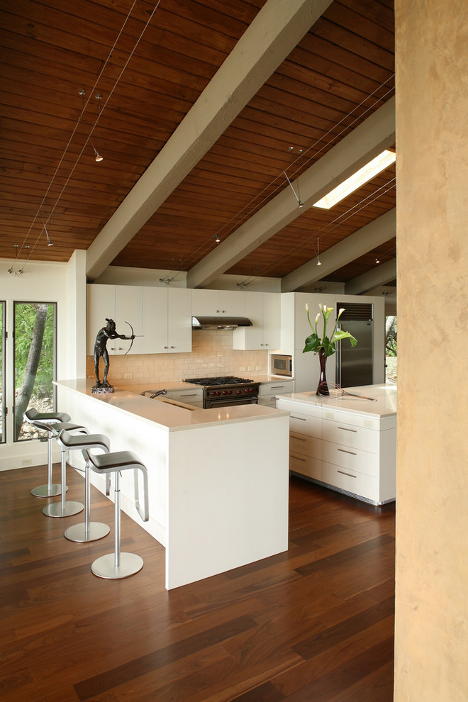 Ikea Track Lighting Kitchen Contemporary with Angled Ceiling Art Bar Stools Beams Breakfast