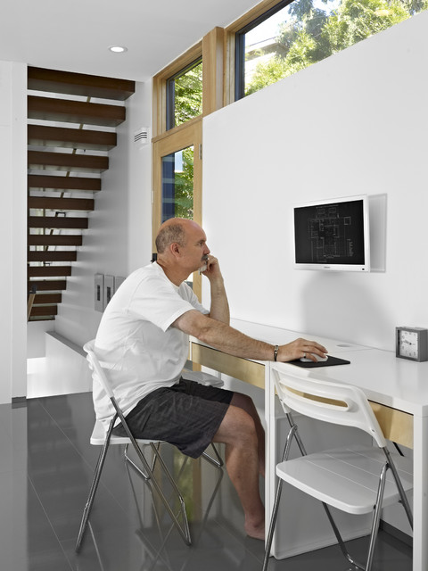 ikea tv wall mount Home Office Modern with built-in computer monitor Clerestory clerestory window folding chairs glass