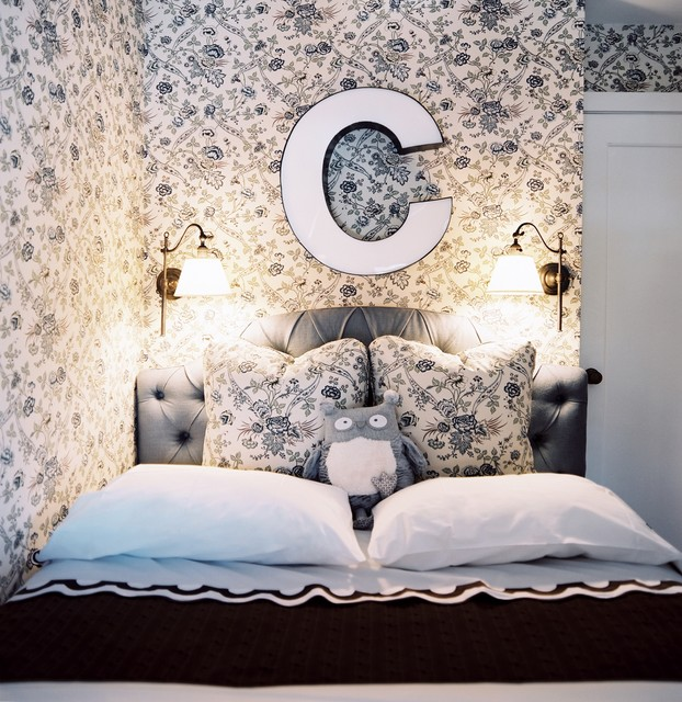 Initial Pillows Bedroom Shabby Chic with Alcove Bed Pillows Blue Bedroom Floral Wallpaper Hotel Bedding