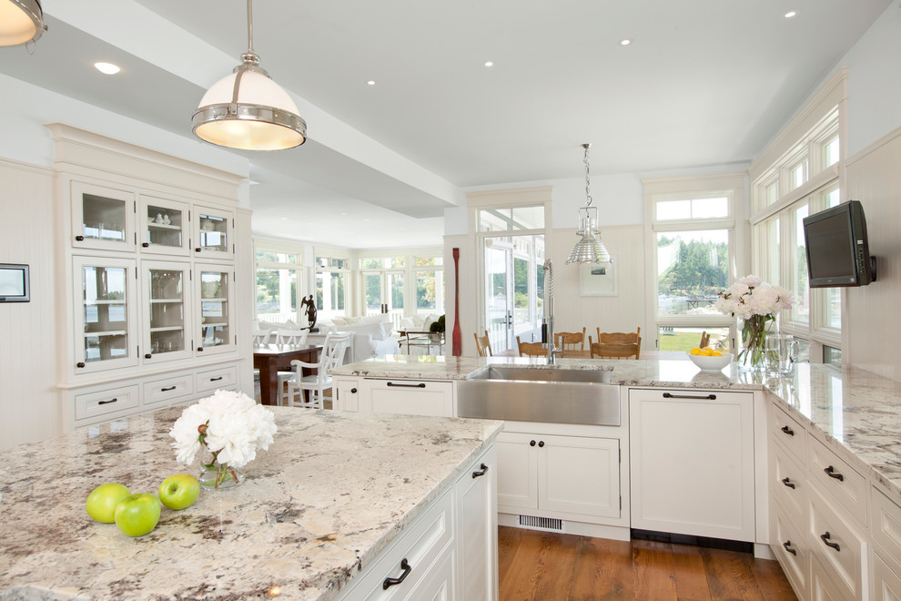 installing granite countertops Kitchen Traditional with BC beige countertop built-in appliances built-in china