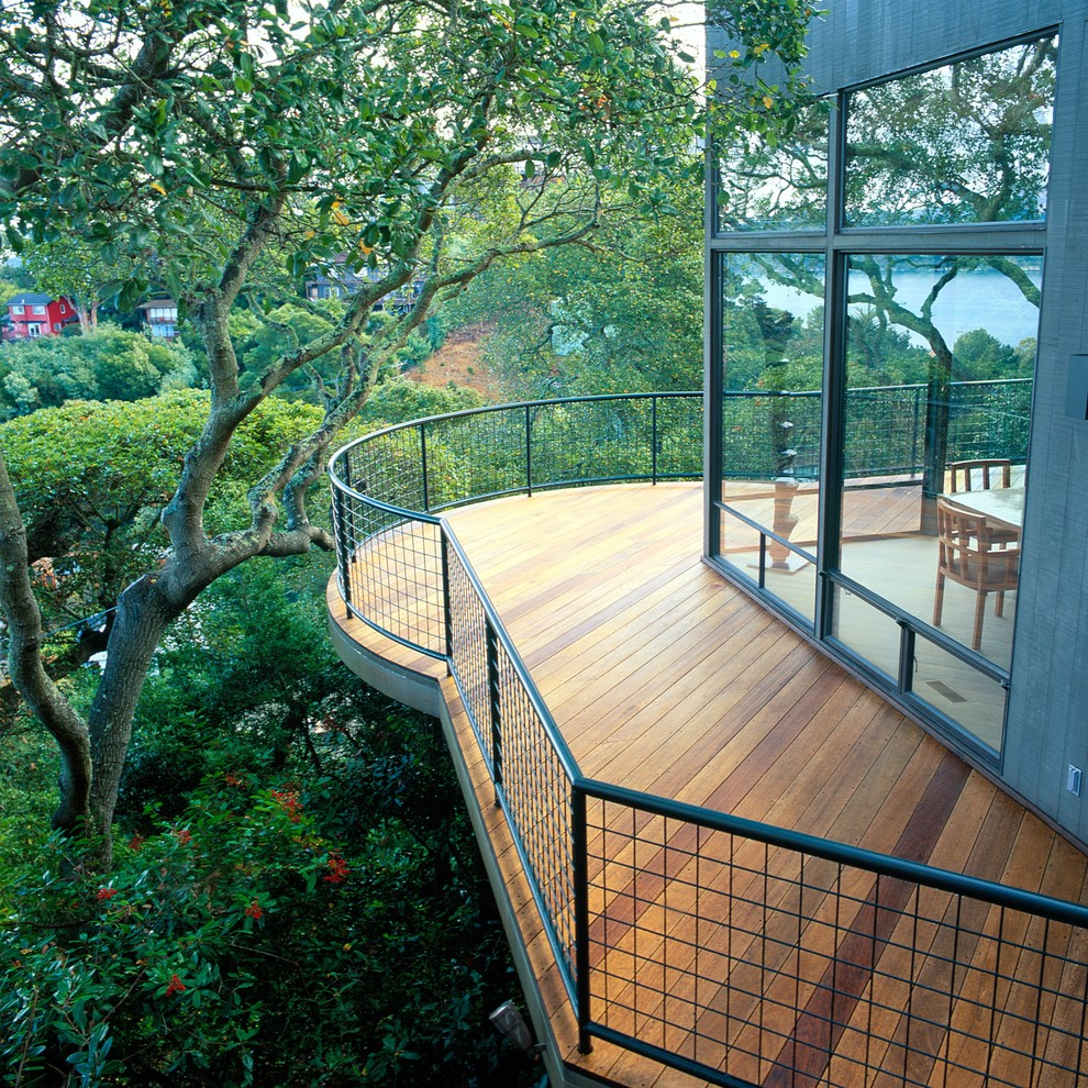 Ipe Decking Deck Contemporary with Contemporary Deck Curved Deck Difficult Site Freestanding