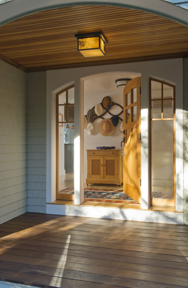 Ipe Decking Entry Traditional with Arched Door Arched Window Deck Douglas Fir