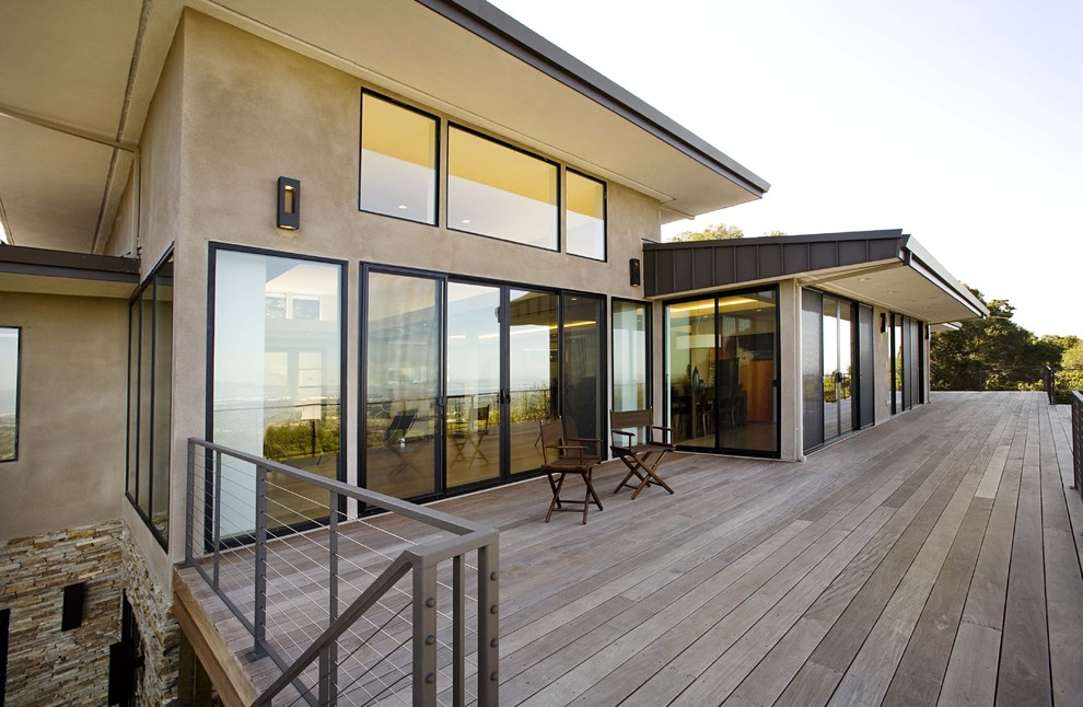 Ipe Decking Exterior Contemporary with Ceiling Lighting Deck Directors Chairs Eaves Glass