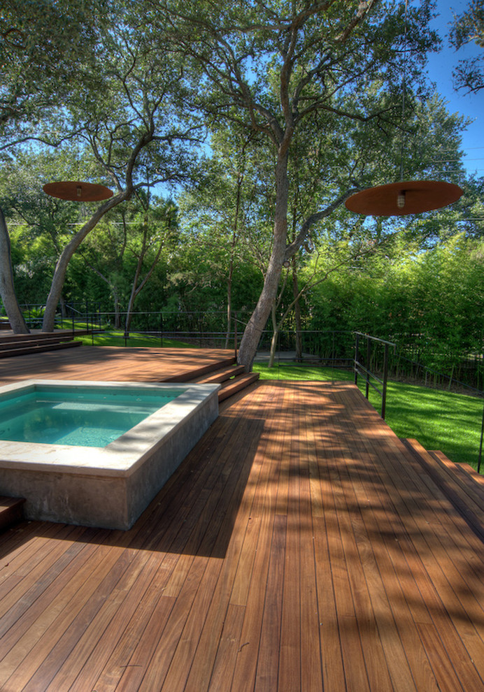 Ipe Decking Landscape Contemporary with Deck Grass Hot Tub Ipe Deck Jacuzzi