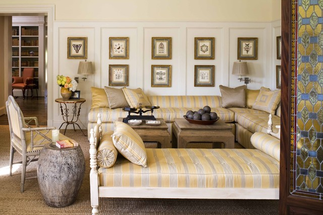 Iron Daybed Living Room Traditional with Area Rug Artwork Corner Sofa Day Bed Gallery Wall