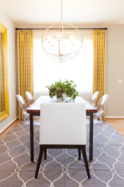 Jcpenney Area Rugs Dining Room Eclectic With Acrylic Chair Ghost Chairs Gray Rug Host