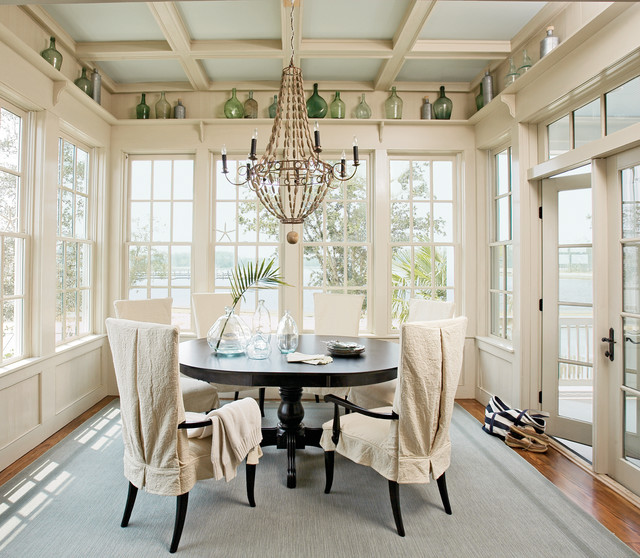 Jeld Wen Windows Dining Room Traditional with Blue Rug Chandelier Coffered Ceiling Dining Chair French Windows