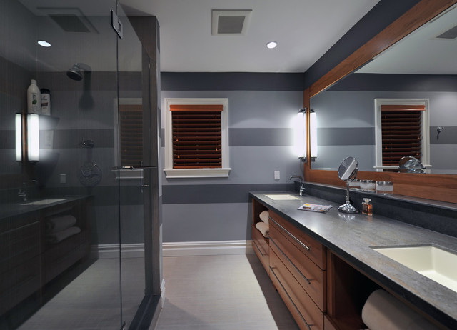 Jeremiah Lighting Bathroom Contemporary with Baseboards Bathroom Lighting Bathroom Mirror Ceiling Lighting Double Sinks