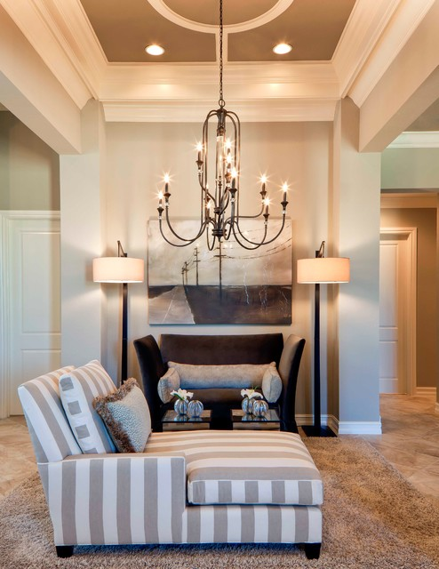 jeremiah lighting Living Room Traditional with area rug artwork ceiling design ceiling detail chaise chandelier