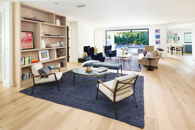jute rugs Living Room Transitional with area rugs blue rugs built-in bookcases Fireplace indoor-outdoor indoor-outdoor
