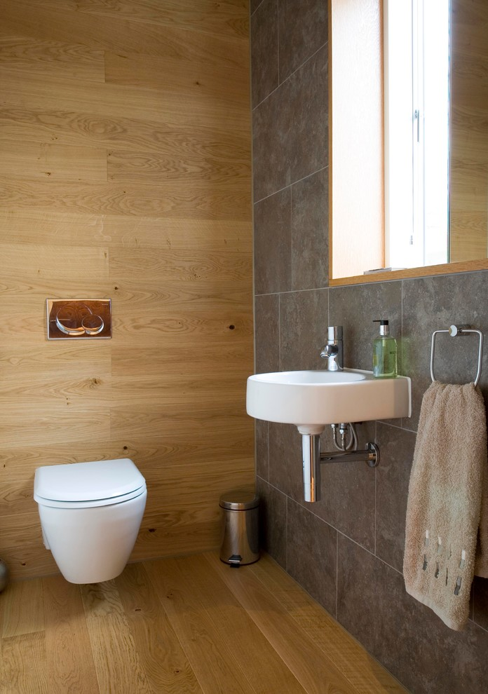 Kahrs Flooring Powder Room Contemporary with Cloakroom Contemporary Architecture Downstairs Toilet Natural Lighting
