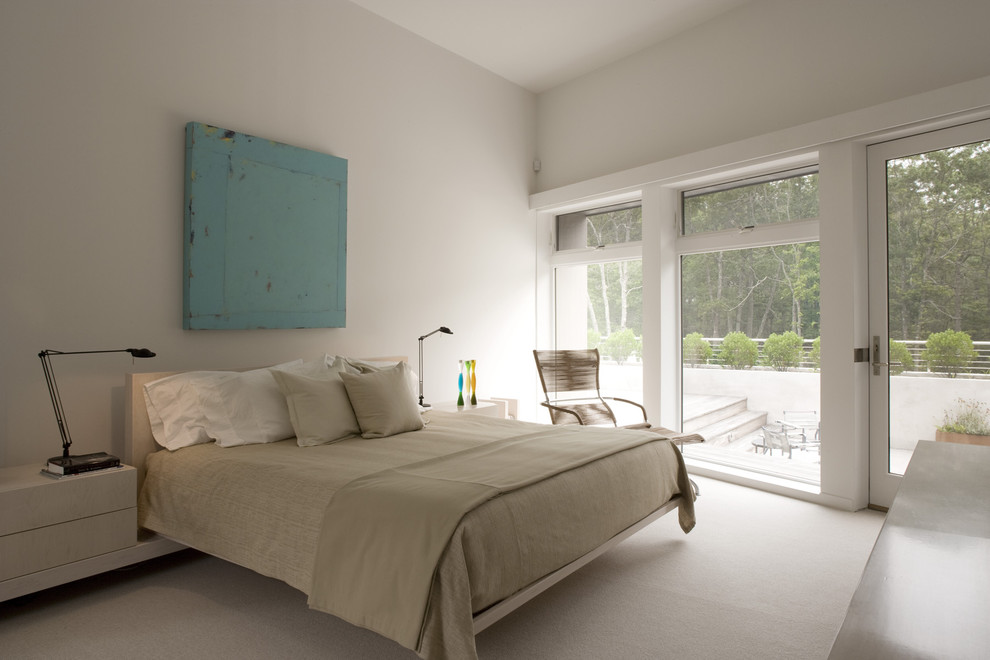 Kane Carpet Bedroom Contemporary with Art Built in Bedside Tables Carpeting Low