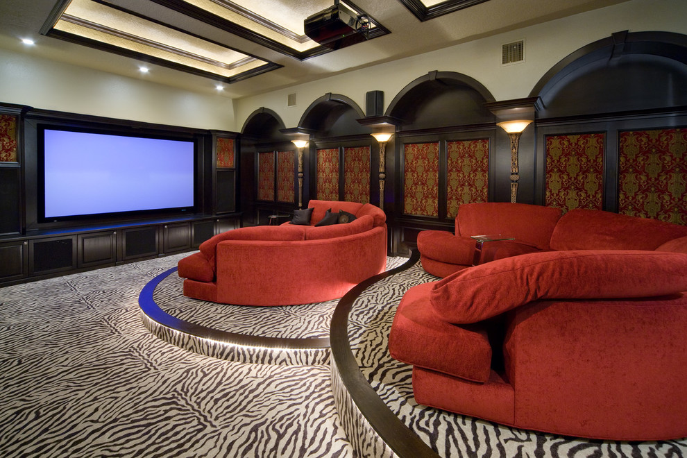 Karastan Carpet Home Theater Traditional with Home Theater Oversized Sofa Projector Red Sectional