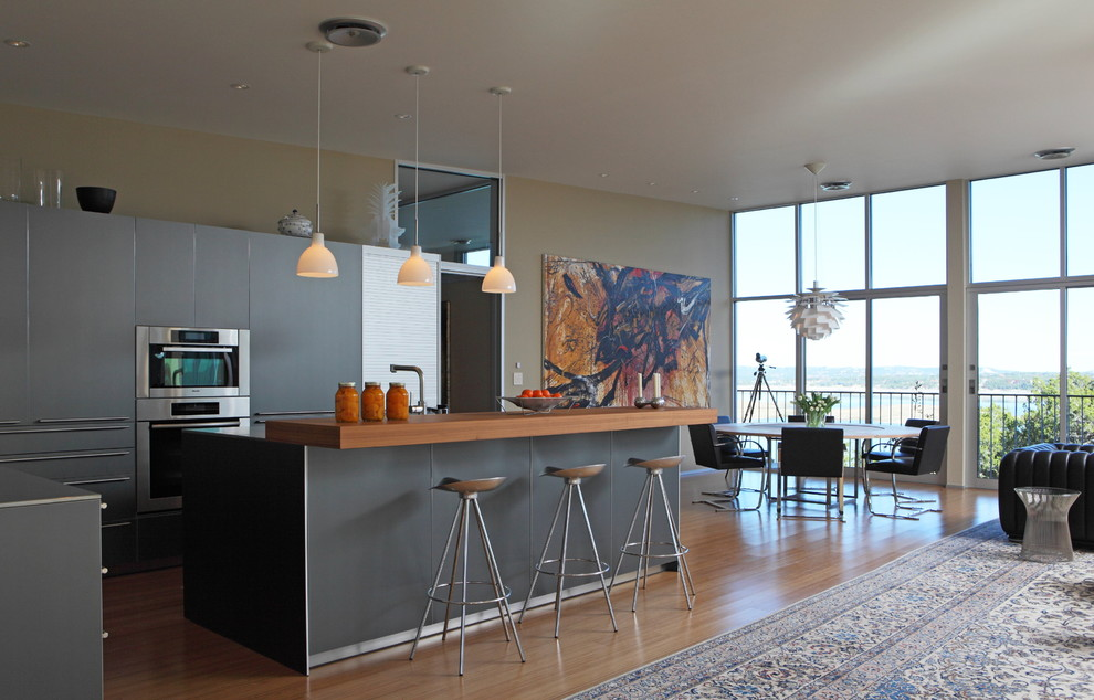 Kas Rugs Kitchen Contemporary with Area Rug Breakfast Bar Eat in Kitchen