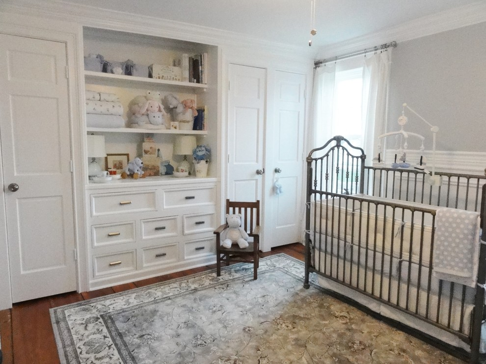 Kas Rugs Nursery Traditional with Area Rug Built in Shelves Built In