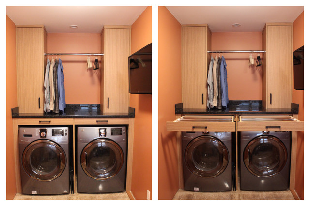 Kenmore Elite Washer And Dryer Laundry Room Asian With Asian