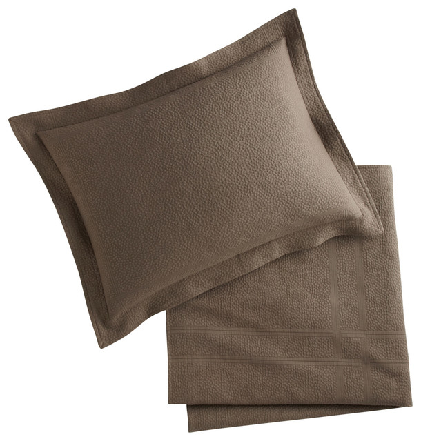 King Pillow Shams with Bed Pillow Sham Bedding Bedroom Decor Bedroom Product Brown