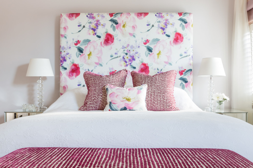 King Size Headboard Ideas Bedroom Victorian with Bedding Cushions Fabric Floral Fabric Floral Headboard