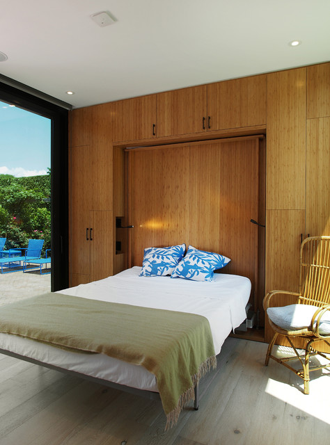 King Size Murphy Bed Bedroom Modern with Murphy Bed Pool House Recessed Lighting Small Bedroom