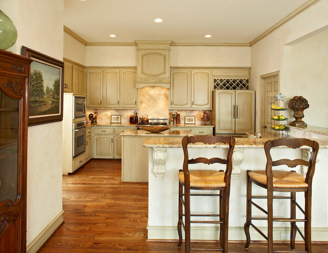 Kitchen Dinette Sets Kitchen Traditional with Baseboards Beige Counters Beige Walls Breakfast Bar Cabinetry Ceiling