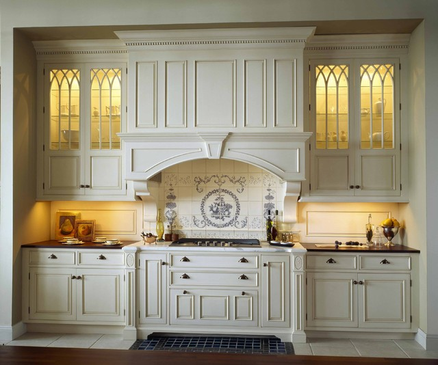 Kitchenaid Grill Reviews Kitchen Traditional with Applied Molding Arch Over Range Backsplash Beaded Trim Blue