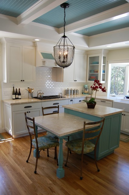 Kitchenaid Juicer Attachment Kitchen Traditional with Apron Sink Architectural Beams Bay Window Beadboard Ceiling Custom