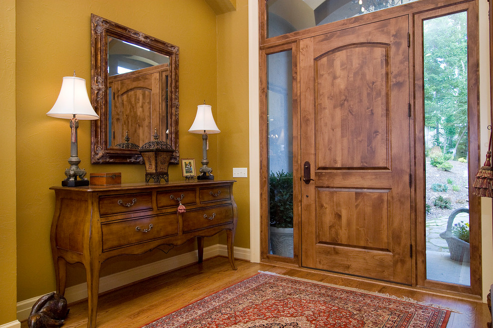 Knotty Alder Doors Entry Traditional with Arched Door Arched Entry Area Rug Clear