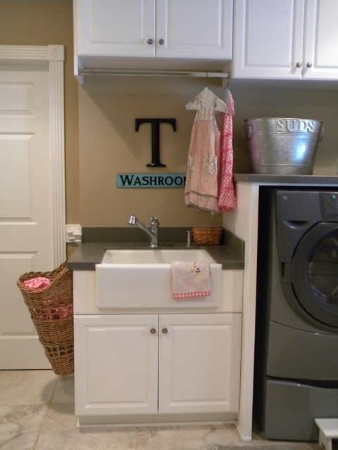 Kohler Apron Sink Laundry Room Eclectic with Categorylaundry Roomstyleeclecticlocationunited States