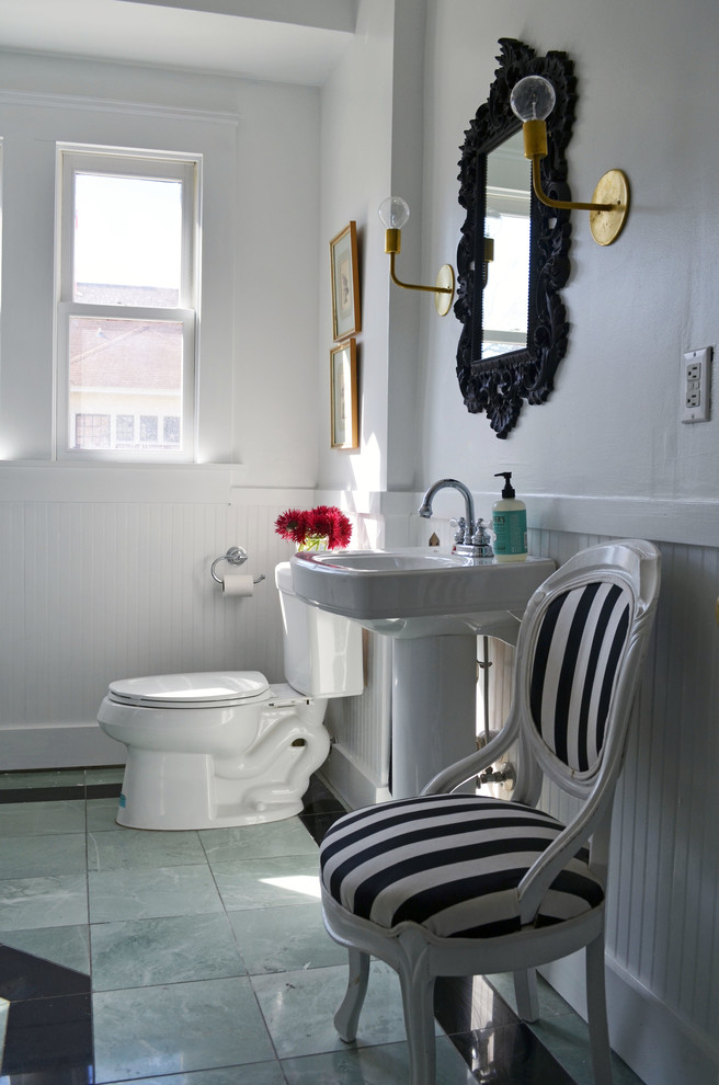 Pleasant Kohler Forte Bathroom Victorian With Beadboard Wainscoting Complete Home Design Collection Papxelindsey Bellcom