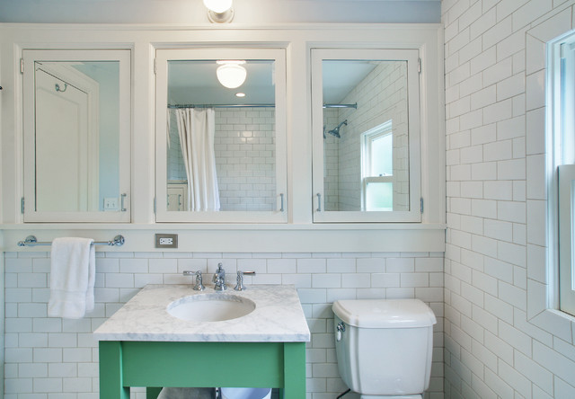 kohler medicine cabinet Bathroom Traditional with green vanity inset cabinets lever faucet Marble Countertop medicine