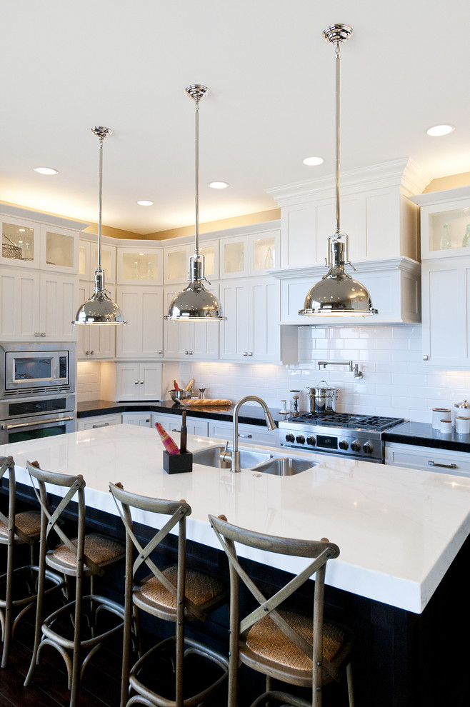 Kraftmaid Cabinet Reviews Kitchen Traditional with Accent Lights Crown Molding Black Counters Counter1