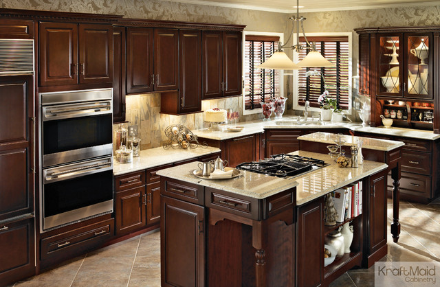 Kraftmaid Cabinetry Kitchen Traditional with Built in Kitchen Island Center Island in Kitchen Island