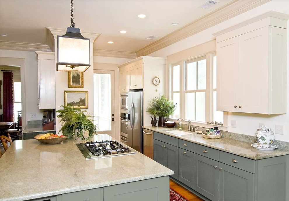 Kraftmaid Cabinets Reviews Kitchen Traditional With Blue Gray Island