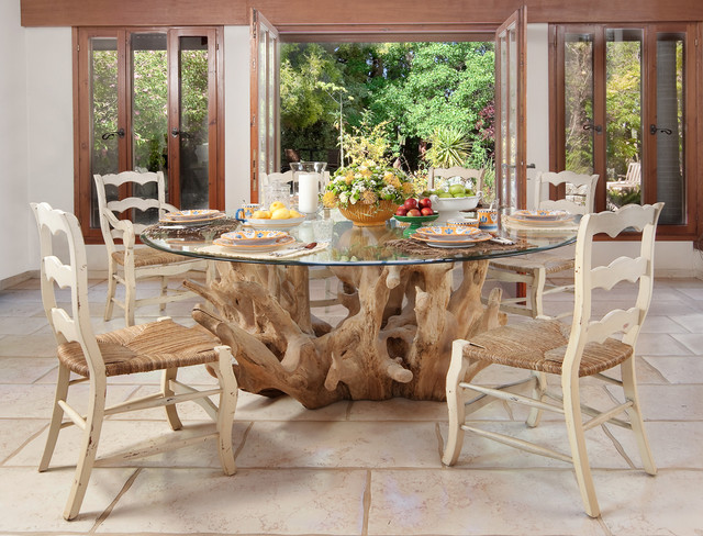 Ladderback Chairs Dining Room Contemporary with Centerpiece French Doors Glass Dining Table Glass Doors Ladder Back