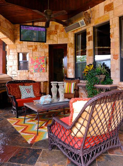 Lane Venture Outdoor Furniture Patio Traditional with Bold Color Bright Color Chevron Rug Floral Art Outdoor