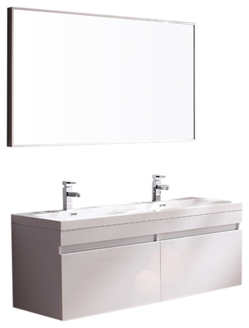 Largo Furniture with Bathroom Chrome Faucet Fortore Fresca Hole Mount Single Vanity