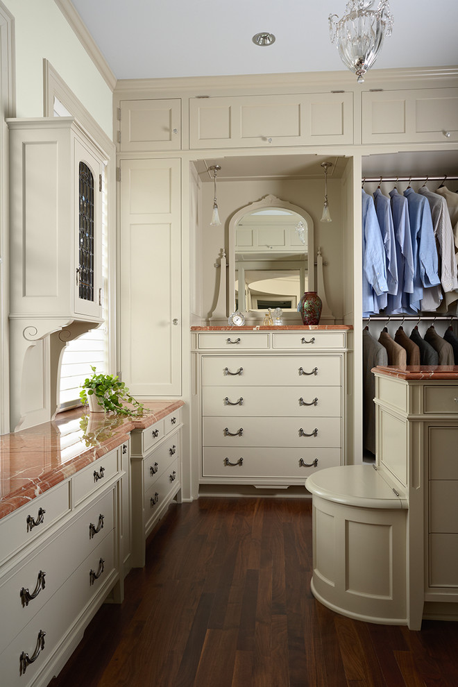 Laundry Hamper Closet Traditional with Dressing Room Master Closet Painted Cabinetry Walk In