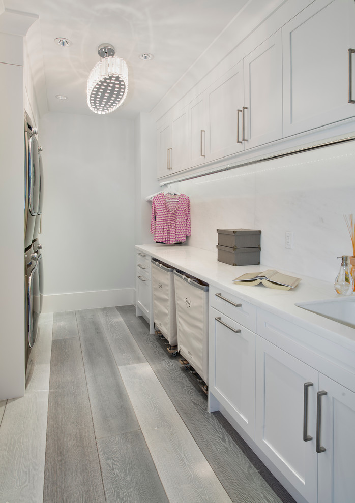 Laundry Hamper Laundry Room Contemporary with Crown Molding Crown Moulding Hampers Hanger Rod