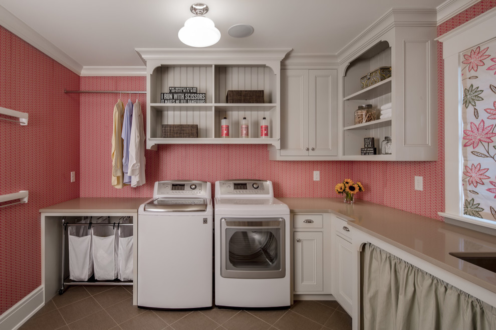 Laundry Hamper on Wheels Laundry Room Traditional with Built in Cabinetry Ceiling Light Hampers Hanging Rod