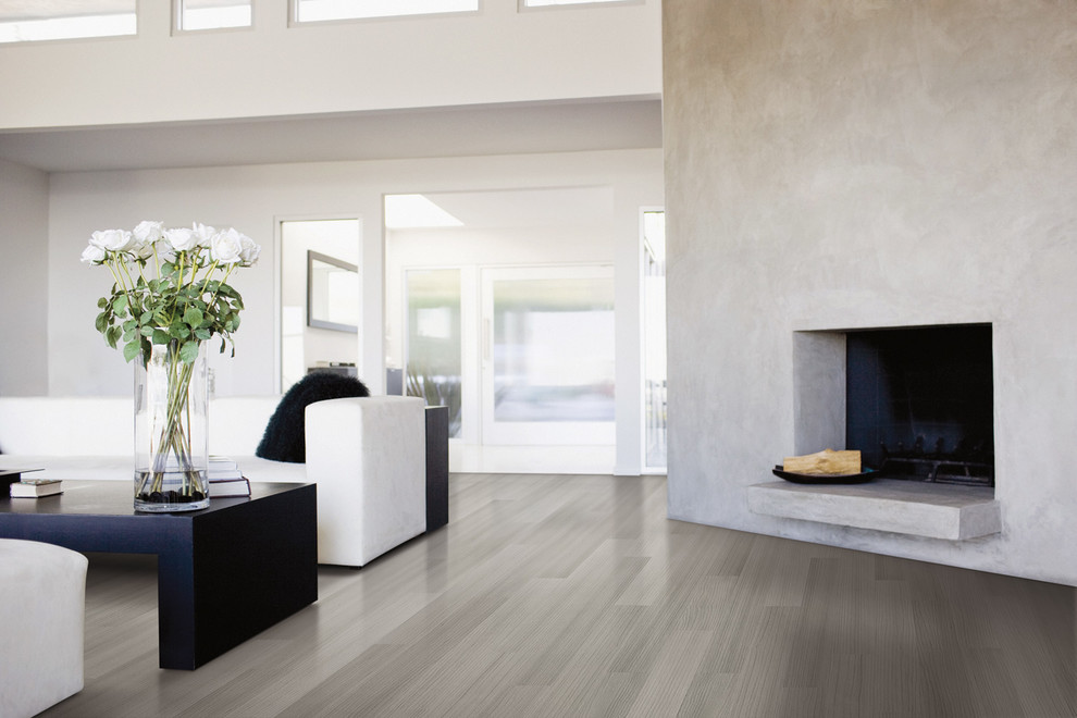 lauzon flooring Living Room Contemporary with Designer colllection Lauzon wood wood floors